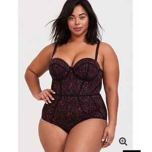 torrid Swim - Torrid Red Leopard Underwire One Piece Swimsuit
